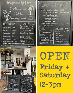 Peepo OPEN - Friday and Saturday Lunchtime